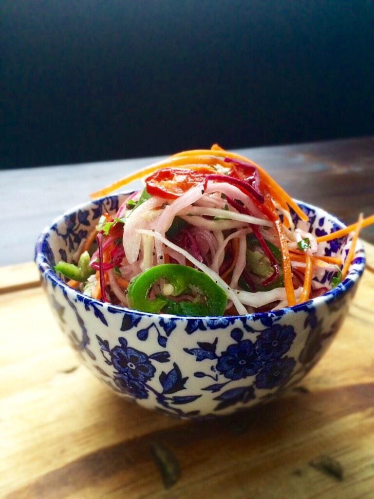 Jalapenno slaw at Hotbox